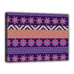 Colorful Winter Pattern Canvas 16  x 12