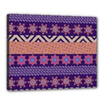 Colorful Winter Pattern Canvas 20  x 16