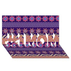 Colorful Winter Pattern #1 Mom 3d Greeting Cards (8x4) by DanaeStudio