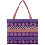 Colorful Winter Pattern Mini Tote Bag