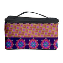Colorful Winter Pattern Cosmetic Storage Case by DanaeStudio