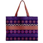 Colorful Winter Pattern Zipper Mini Tote Bag