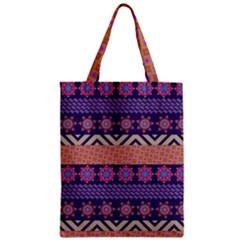 Colorful Winter Pattern Zipper Classic Tote Bag by DanaeStudio