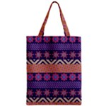 Colorful Winter Pattern Zipper Classic Tote Bag