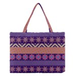 Colorful Winter Pattern Medium Tote Bag