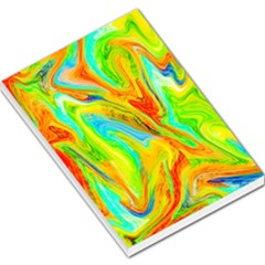 Happy Multicolor Painting Large Memo Pads by designworld65