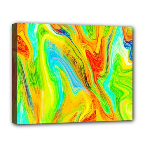 Happy Multicolor Painting Deluxe Canvas 20  X 16   by designworld65