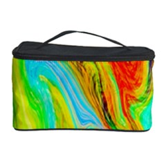 Happy Multicolor Painting Cosmetic Storage Case by designworld65
