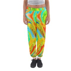 Happy Multicolor Painting Women s Jogger Sweatpants by designworld65