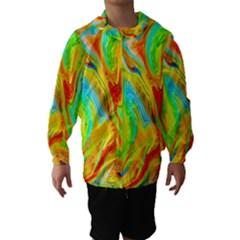 Happy Multicolor Painting Hooded Wind Breaker (kids) by designworld65