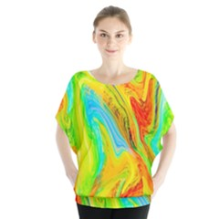 Happy Multicolor Painting Blouse by designworld65
