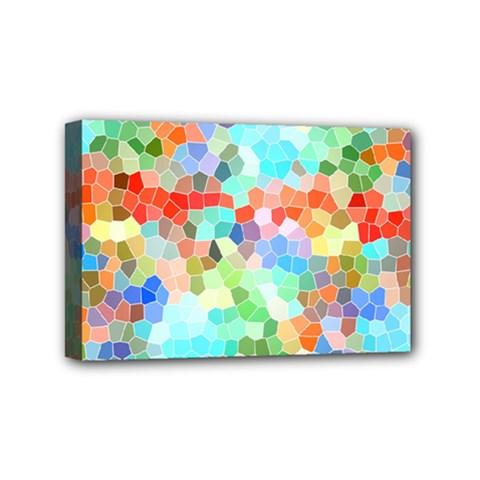 Colorful Mosaic  Mini Canvas 6  X 4  by designworld65