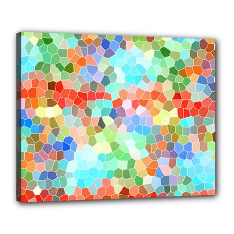 Colorful Mosaic  Canvas 20  X 16  by designworld65
