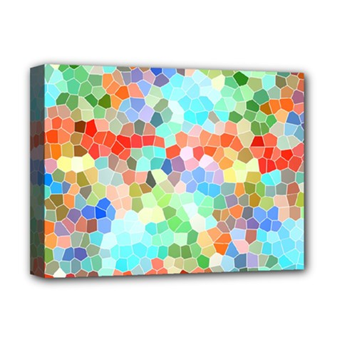Colorful Mosaic  Deluxe Canvas 16  X 12   by designworld65