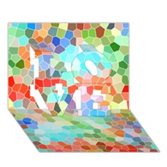 Colorful Mosaic  Love 3d Greeting Card (7x5) by designworld65