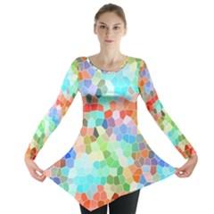 Colorful Mosaic  Long Sleeve Tunic  by designworld65