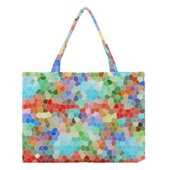 Colorful Mosaic  Medium Tote Bag by designworld65