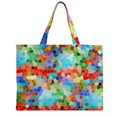 Colorful Mosaic  Medium Zipper Tote Bag by designworld65