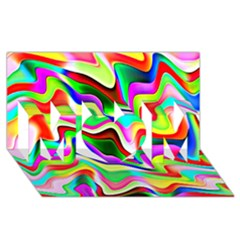 Irritation Colorful Dream Mom 3d Greeting Card (8x4) by designworld65
