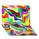 Irritation Colorful Dream Circle Bottom 3D Greeting Card (7x5)