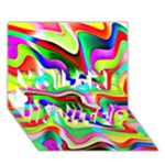 Irritation Colorful Dream YOU ARE INVITED 3D Greeting Card (7x5)