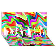 Irritation Colorful Dream Best Bro 3d Greeting Card (8x4) by designworld65