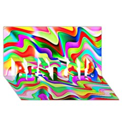 Irritation Colorful Dream Best Sis 3d Greeting Card (8x4) by designworld65