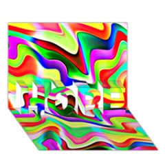 Irritation Colorful Dream Hope 3d Greeting Card (7x5) by designworld65