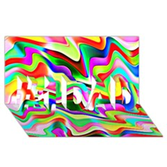 Irritation Colorful Dream #1 Dad 3d Greeting Card (8x4) by designworld65