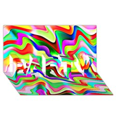 Irritation Colorful Dream Party 3d Greeting Card (8x4) by designworld65