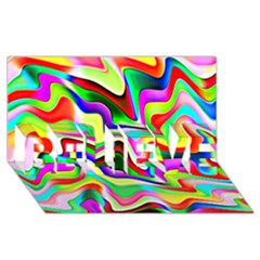 Irritation Colorful Dream Believe 3d Greeting Card (8x4) by designworld65