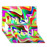 Irritation Colorful Dream Miss You 3D Greeting Card (7x5)