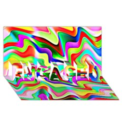 Irritation Colorful Dream Engaged 3d Greeting Card (8x4) by designworld65