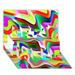 Irritation Colorful Dream Get Well 3D Greeting Card (7x5)