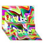 Irritation Colorful Dream You Rock 3D Greeting Card (7x5)