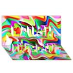Irritation Colorful Dream Laugh Live Love 3D Greeting Card (8x4)