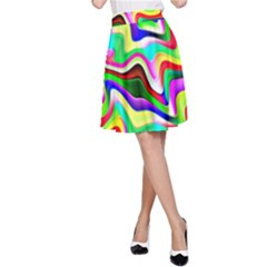 Irritation Colorful Dream A Line Skirt by designworld65