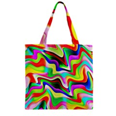 Irritation Colorful Dream Zipper Grocery Tote Bag by designworld65