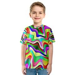 Irritation Colorful Dream Kids  Sport Mesh Tee by designworld65