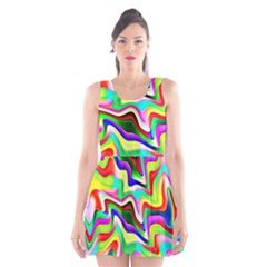 Irritation Colorful Dream Scoop Neck Skater Dress by designworld65