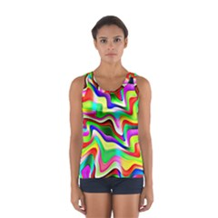 Irritation Colorful Dream Women s Sport Tank Top  by designworld65