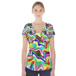 Irritation Colorful Dream Short Sleeve Front Detail Top