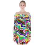 Irritation Colorful Dream Long Sleeve Off Shoulder Dress