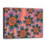Colorful Floral Dream Canvas 16  x 12