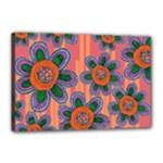 Colorful Floral Dream Canvas 18  x 12