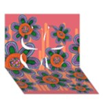 Colorful Floral Dream Clover 3D Greeting Card (7x5)
