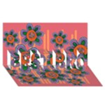 Colorful Floral Dream BEST BRO 3D Greeting Card (8x4)