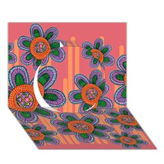 Colorful Floral Dream Circle 3d Greeting Card (7x5) by DanaeStudio