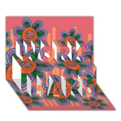 Colorful Floral Dream Work Hard 3d Greeting Card (7x5) by DanaeStudio