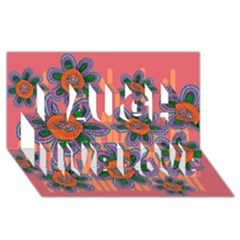 Colorful Floral Dream Laugh Live Love 3d Greeting Card (8x4) by DanaeStudio